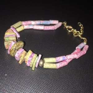 Handcrafted Pink & Purple Bracelet 💜💕 NWT
